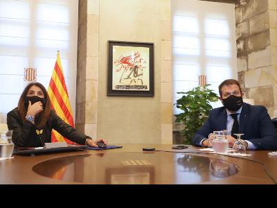 La consellera Budó i el secretari de l'Esport, Gerard Figueras
