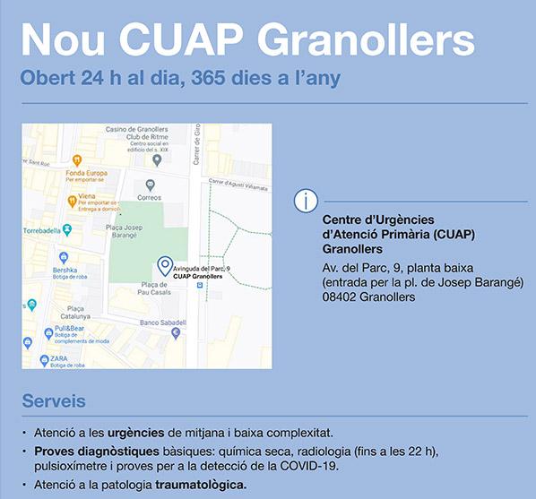 El Centre d'Urgències d'Atenció Primària de Granollers entrarà en funcionament el dia 2 de novembre
