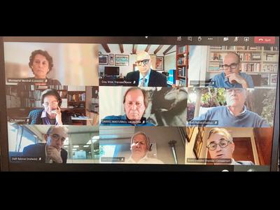 Imatge de la reunió telemàtica