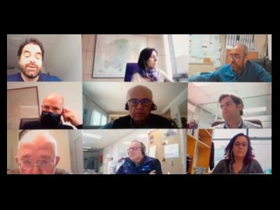Captura de pantalla de la reunió telemàtica