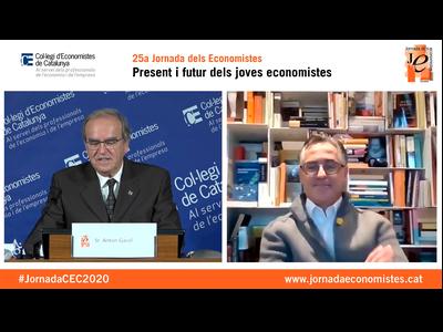 El conseller Tremosa en la seva intervenció d'avui al Col·legi d'Economistes