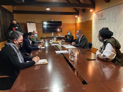 Reunió del conseller amb l'Ajuntament de Lleida i el Consell Comarcal del Segrià