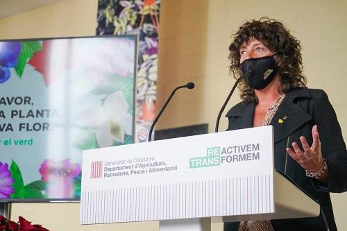 Teresa Jordà presentant la campanya Fem créixer el verd