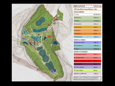 Mapa de les instal·lacions del Roc Falcon