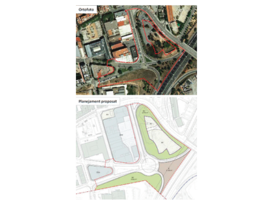 Imatge de la ubicació i del plànol de la nova rotonda