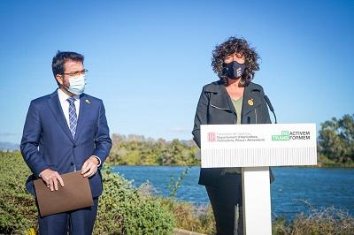 El vicepresident Pere Aragonés  i la consellera Teresa Jordà
