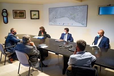 Moment de la reunió amb les comunitats de regants del Delta l'Ebre