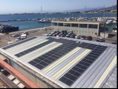 Imatge de les plaques fotovoltaiques