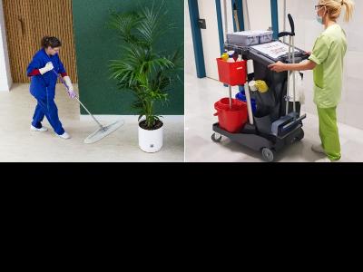 Serveis de neteja de SIFU ECO (esquerra) i BCL ECO (dreta).