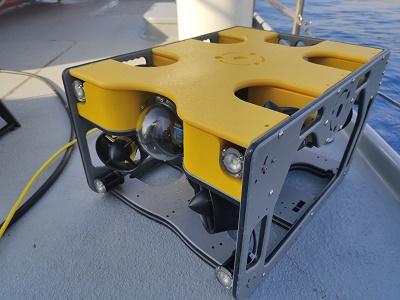 Vehicle Operat Remotament (ROV) per realitzar tasques de vigilància, seguiment i inspecció subaquàtiques.