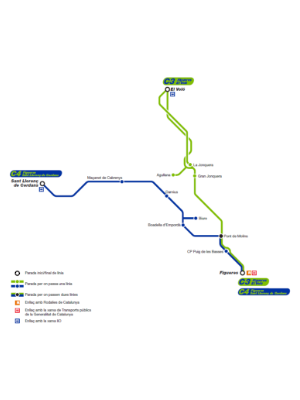 Plànol rutes C3, C4 i C5