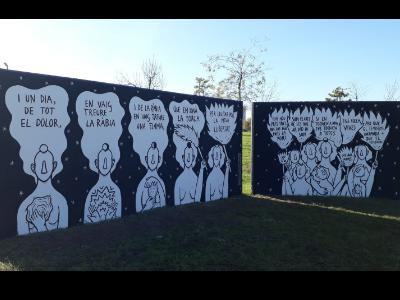 Foto del mural de Cristina de Juan