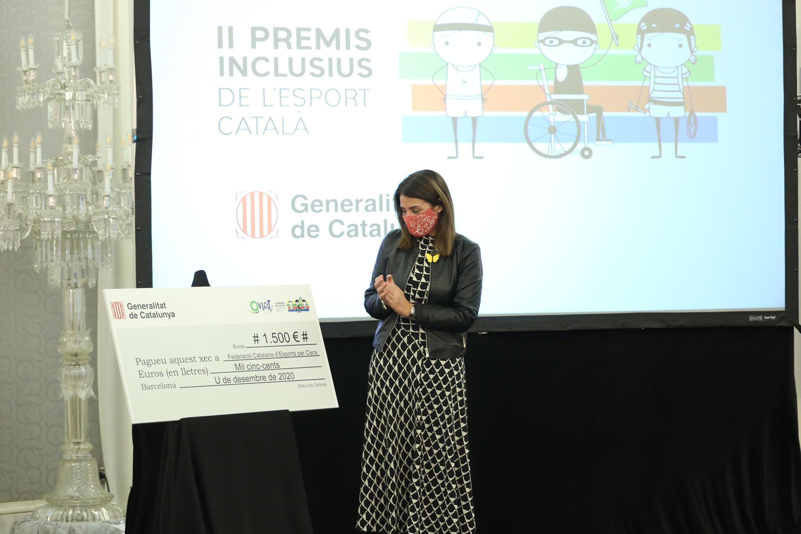 Entrega dels II Premis Inclusius de l'Esport Català. (Fotografia: Jordi Bedmar)