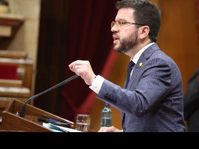 El vicepresident del Govern durant la seva compareixença al Parlament