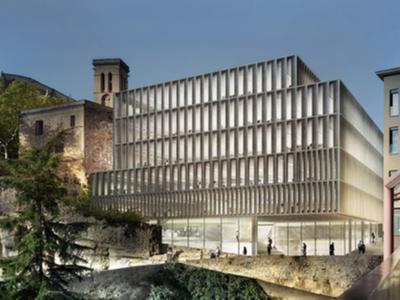 Perspectiva del nou edifici corporatiu de la Generalitat a Manresa