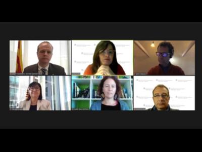 Captura de pantalla amb els participants de la Jornada