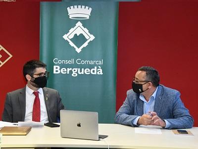 El conseller Puigneró presentant el projecte de desplegament de la fibra òptica de la Generalitat a la comarca del Berguedà