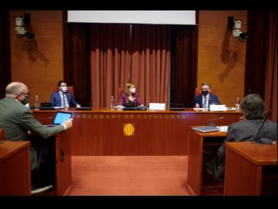 El vicepresident Aragonès i el conseller Tremosa durant la compareixença