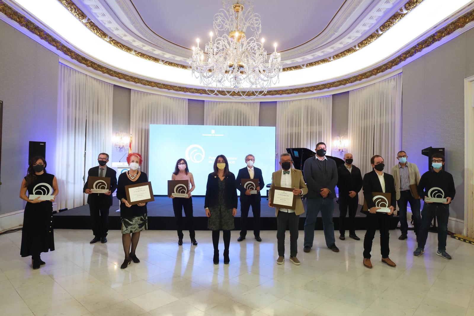La consellera Budó en l'entrega de Premis Nacionals de Comunicació (Foto: Rubén Moreno)