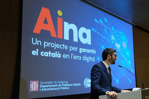 El coseller Jordi Puigneró  presenta 'AINA', el projecte del Govern per garantir el català en l'era digital