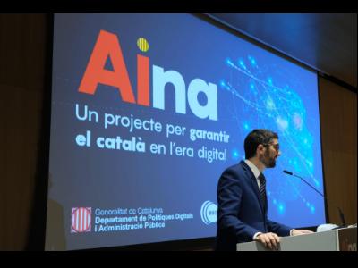 Neix 'AINA', el projecte del Govern per garantir el català en l'era digital