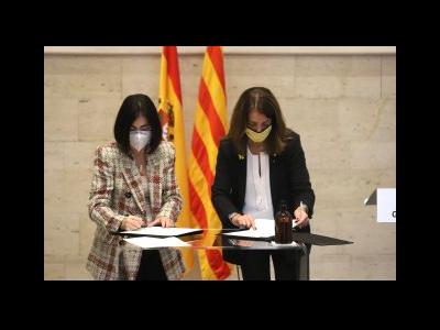 Signatura conveni Budó-Darias