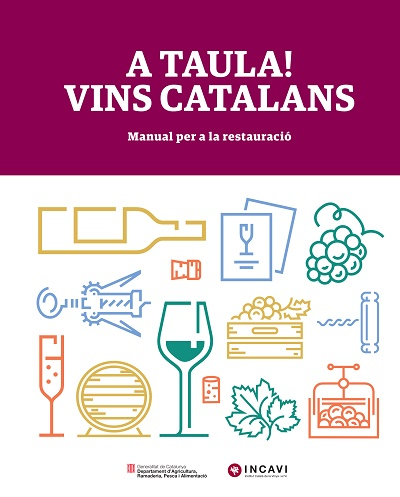 Imatge de la portada del manual 'A Taula! Vins Catalans'