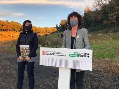 Teresa Jordà presentant la Guia de les tecnologies de tractament de les dejeccions ramaderes