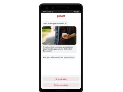 Imatge de la nova App del gencat