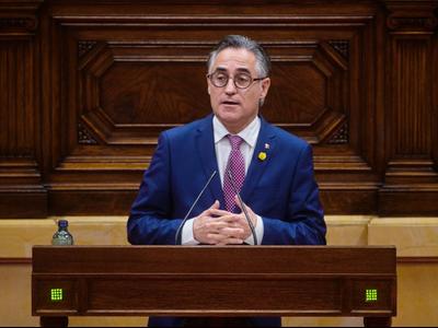 El conseller Tremosa avui en el debat final als Projectes de llei de Facilitació de l'activitat econòmica, i de les Àrees de Promoció Econòmica i Urbana (APEUs)
