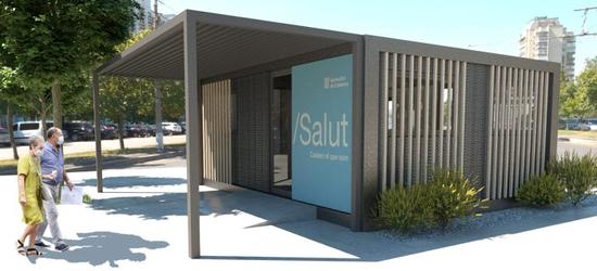 Salut reforça l'atenció de la COVID als CAP de la Regió Sanitària Girona amb més mòduls prefabricats