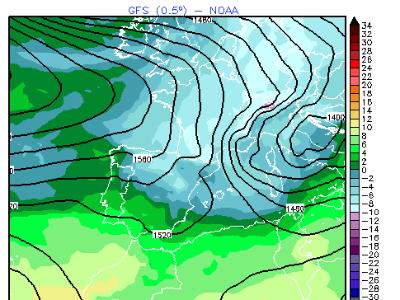 Mapa model meteorològic