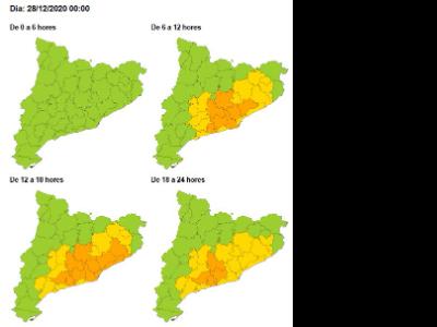 DGPC mapa de vent avui dilluns