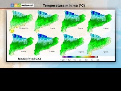 Mapa Temperatura mínima propers dies