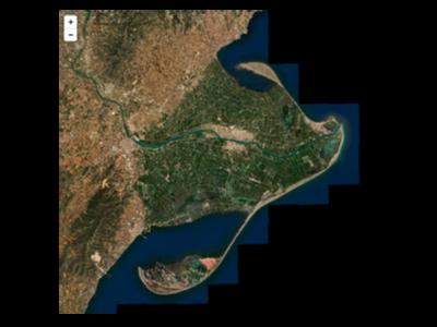 Imatge satèl·lit del delta de l'Ebre, abans del pas del Gloria.