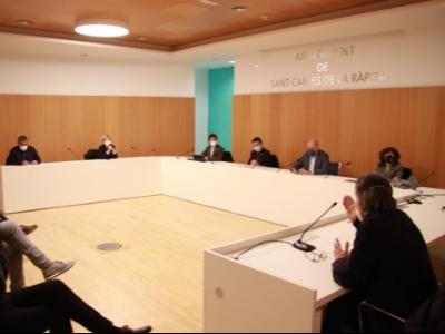 Imatge de la reunió de la Taula de consens de l'Ebre