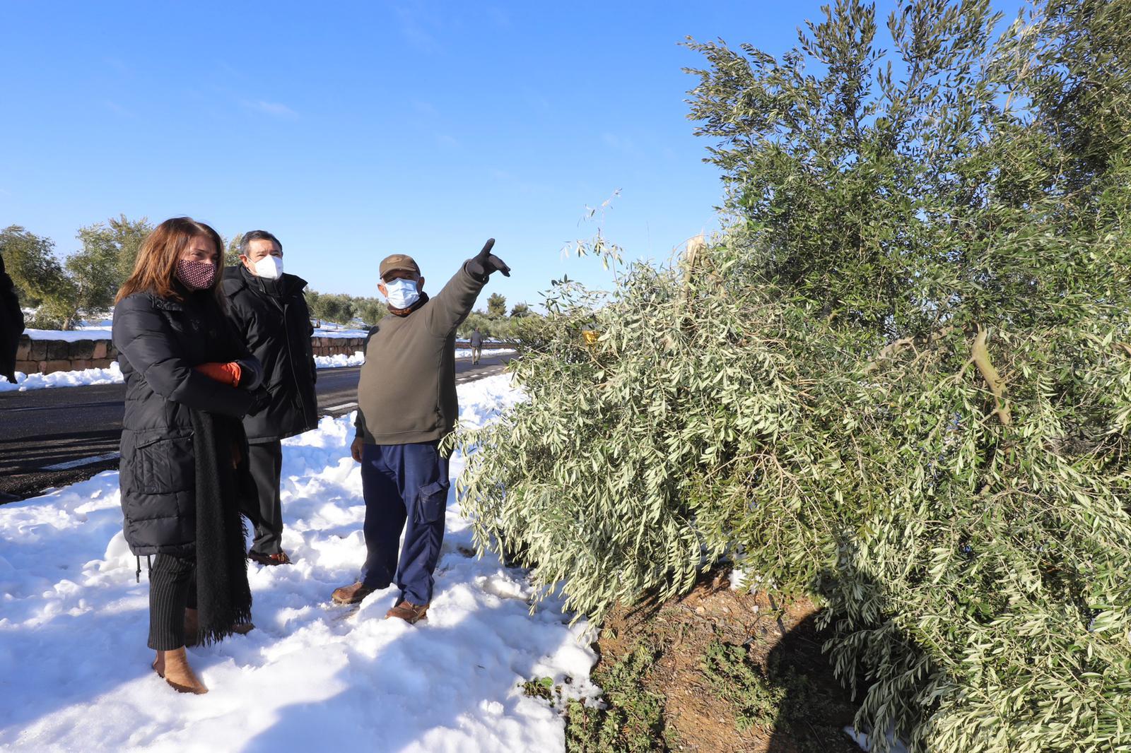 La consellera Budó ha visitat avui zones afectades pel temporal Filomena a la comarca de les Garrigues