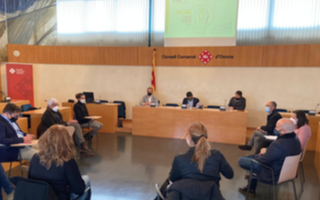 Trobada amb els responsables del programa al Consell Comarcal d'Osona.