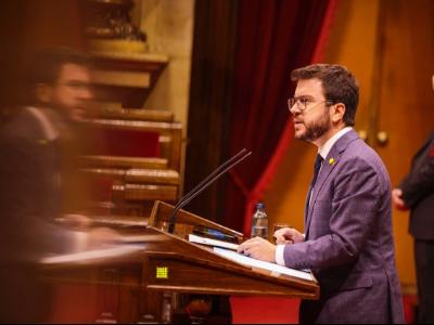 El vicepresident Aragonès a la Diputació permanent del Parlament