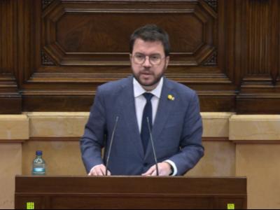 El vicepresient Aragonès a la diputació permanent del Parlament