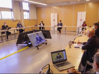 Reunió del vicepresident amb representants de la Plataforma Hidrogen Verd Catalunya Sud a la URV