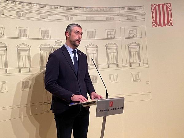El conseller Bernat Solé, durant la roda de premsa.