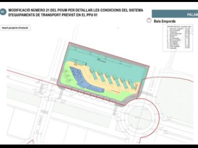 Avantprojecte de la nova estació d'autobusos de Palamós
