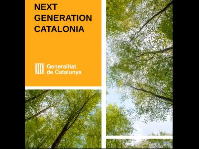 Imatge de la portada del document NEXT GENERATION CATALONIA amb els projectes presentats