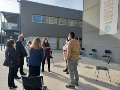 Visita al nou institut escola del Perelló