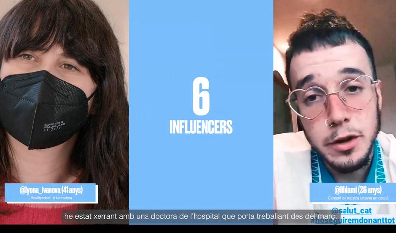 Salut implica a 'influencers' en la prevenció de la COVID-19 entre els joves