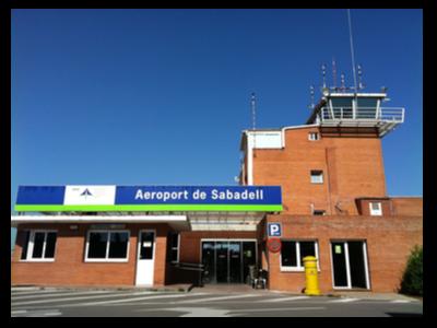 Imatge de l'entrada de l'aeroport