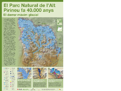 Mapa de les glaceres del Parc Natural de l'Alt Pirineu