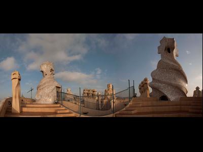 vista del terrat de la Casa Milà (La Pedrera)