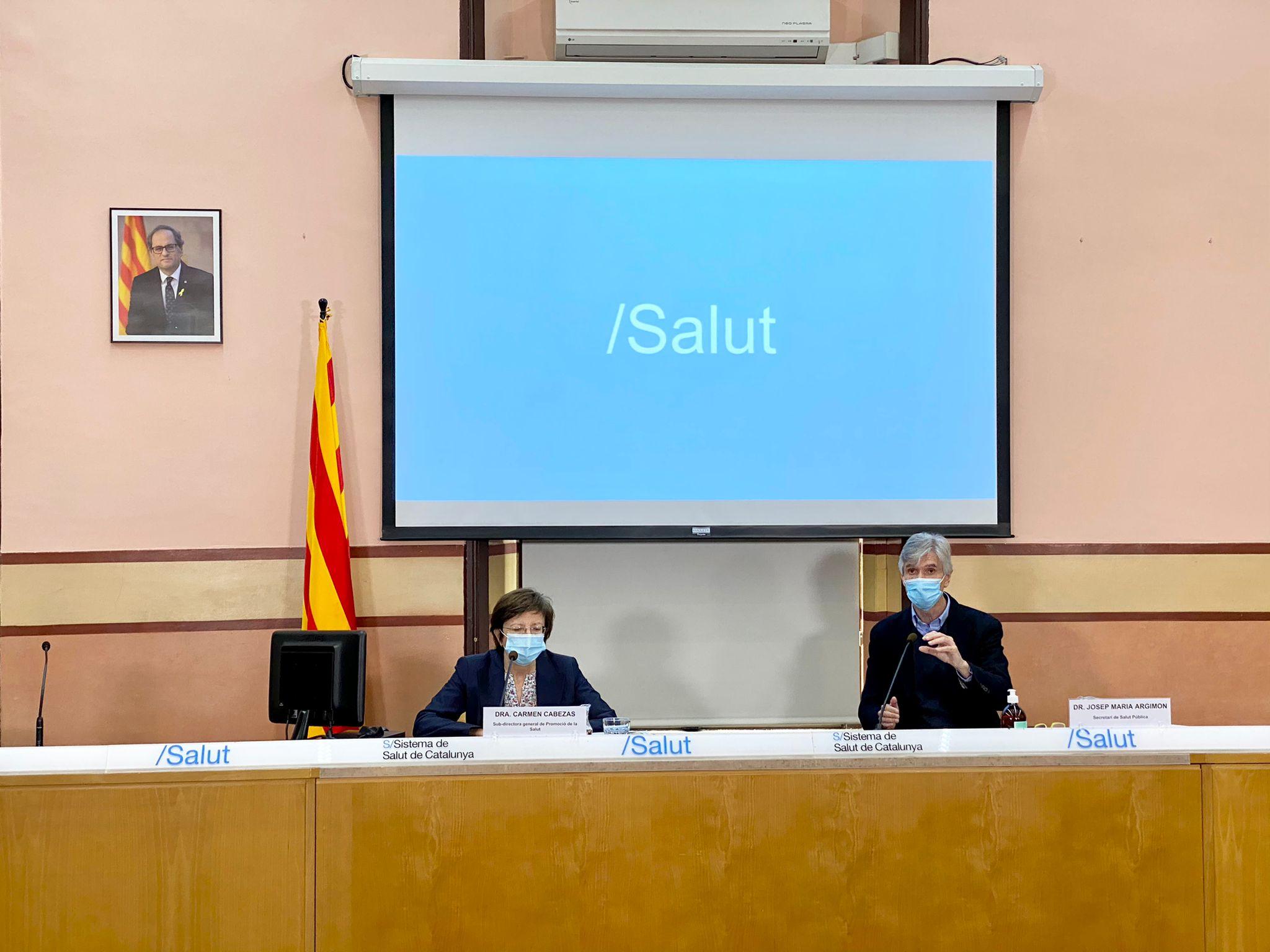 Josep Maria Argimon i Carmen Cabezas durant la roda de premsa